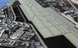 amoy城市,瓷机场的未来风景  免版税库存照片
