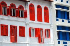 amoy улица singapore домов Стоковое Изображение RF