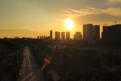 Amoy city sunset. City silhouette cityscape sunset, amoy city, china Stock Photography