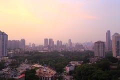 Amoy city sunset. Zhongshan park surrounding areas sunset, amoy city, china Royalty Free Stock Images