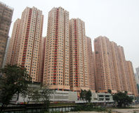 Amoy Gardens in Hong Kong. Amoy Gardens, located in Kowloon Bay, Hong Kong. Amoy Gardens is a high-density middle-class private housing estate in Hong Kong Royalty Free Stock Images