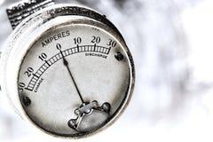 Ampèri della corrente elettrica di calibro elettrico dell'annata immagine stock libera da diritti