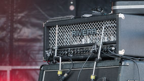 Amp guitar for a rock concert Royalty Free Stock Photography