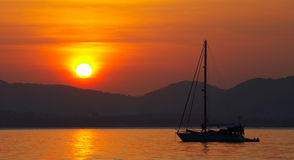 &hills di tramonto Fotografie Stock