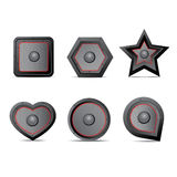 Amp speaker Icon set Royalty Free Stock Photos