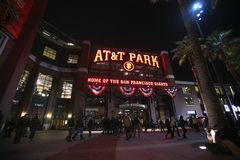 AT&T basebollarena, San Francisco Arkivbild