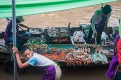Ampahwa floating market Stock Photo