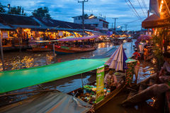 Ampahwa floating market Royalty Free Stock Photo
