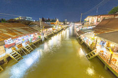 Ampahwa floating market. In Thailand stock photography
