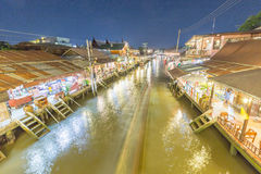 Ampahwa floating market. In Thailand Royalty Free Stock Photo