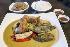 Ampang Yaong Tau Foo with Rice Royalty Free Stock Images