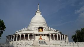 Buddhist Temple In Ampara Caleed Sama viharaya. Ampara Peace Pagoda is one of a number of Peace Pagodas in the world, built since World ... The Peace pagoda royalty free stock photos