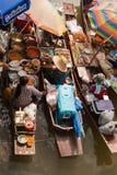 ampawa浮动的市场 免版税库存照片