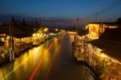 Ampawa floating market Stock Photos
