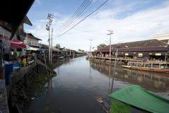 Ampawa sich hin- und herbewegender Markt, Thailand Stockfotos