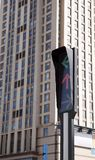Ampel in der modernen Stadt Lizenzfreies Stockbild