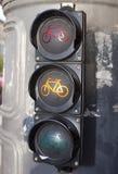 Ampeln für Radfahrer Lizenzfreies Stockbild