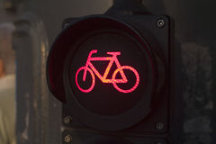 Ampeln für Radfahrer Stockfoto