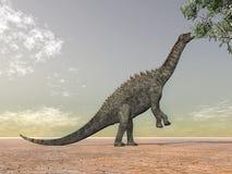 ampelosaurus恐龙 免版税图库摄影