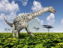 Ampelosaurus del dinosaurio Foto de archivo