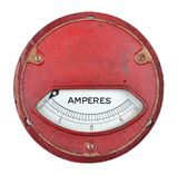 Amperímetro del vintage imagenes de archivo