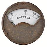 Amperímetro del vintage imágenes de archivo libres de regalías