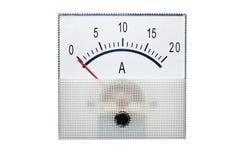 Amperímetro isolado no branco fotografia de stock