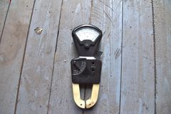 Amperímetro preto velho imagens de stock