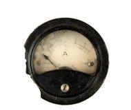 Amperímetro velho imagens de stock royalty free
