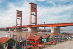 Ampera bridge in Palembang, Sumatra, Indonesia Royalty Free Stock Photos