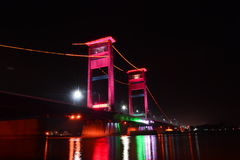 Ampera bro Palembang Fotografering för Bildbyråer