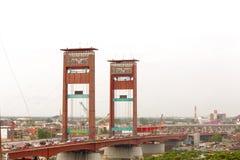 Ampera - Landmark of Palembang City royalty free stock photography