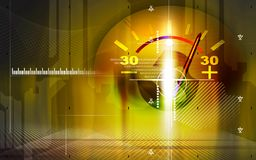Ampere meter with colour Royalty Free Stock Photography