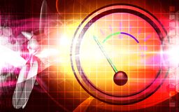 Ampere meter with colour Stock Photos