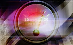 Ampere meter with sparks Royalty Free Stock Photography