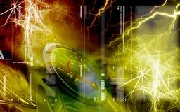 Amperemeßinstrument mit Farbe Stockfotos