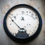 Amperemeter. Old Amperemeter, analog electric measuring instrument Stock Photography