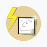 Ampermeter flat icon. Vector. Stock Images