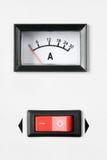 ampermeter władzy swith Obraz Stock