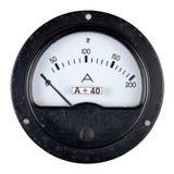 Amperímetro velho da caixa da baquelite Foto de Stock