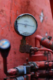 Amperometro con l'unità di tonnellata Fotografie Stock