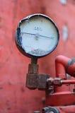 Amperometro con l'unità di tonnellata Fotografia Stock
