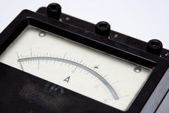 Amperometro dell'annata fotografia stock