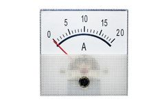 Amperometro isolato su bianco fotografia stock