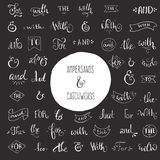 Ampersand and Catchwords Royalty Free Stock Photo