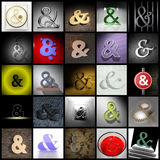 Ampersand collage Royalty Free Stock Photography
