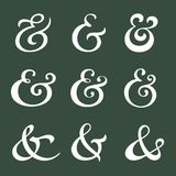 Ampersand collection Royalty Free Stock Images