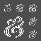 Ampersand collection Stock Photography