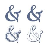 Ampersand collection Royalty Free Stock Photos