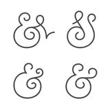 Ampersand collection Stock Photo